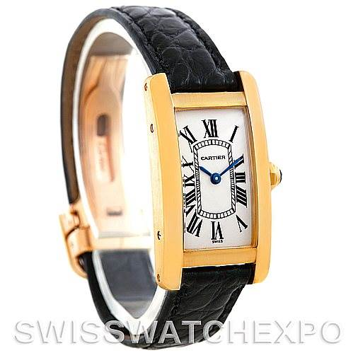 6027 Cartier Tank Americaine 18K Yellow Gold Watch W2601556 SwissWatchExpo