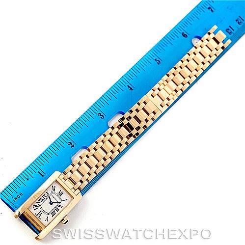 7279 Cartier Tank Americaine 18K Yellow Gold Ladies Watch W26015K2 SwissWatchExpo