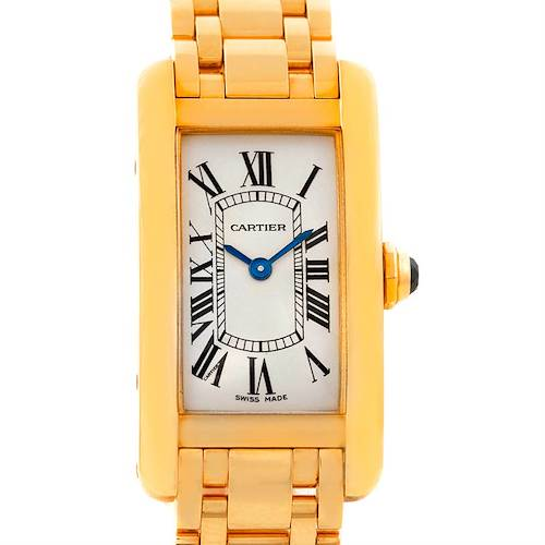 Photo of Cartier Tank Americaine 18K Yellow Gold Ladies Watch W26015K2