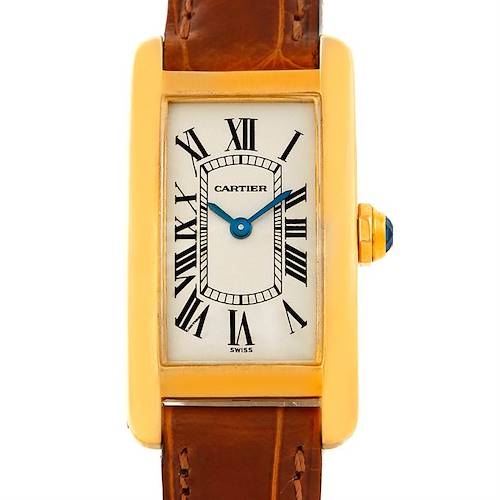 Photo of Cartier Tank Americaine 18K Yellow Gold Ladies Watch W2601556