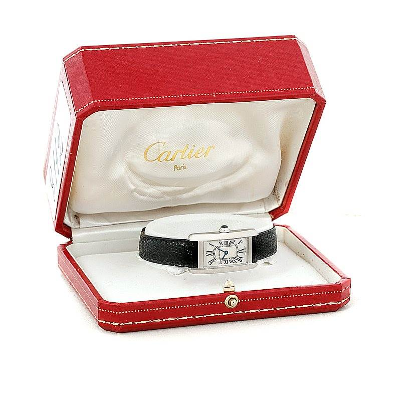 8112 Cartier Tank Americaine 18K White Gold Small Watch W2601956 SwissWatchExpo