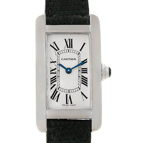 Photo of Cartier Tank Americaine 18K White Gold Small Watch W2601956