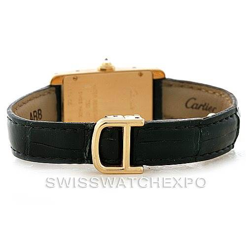 8227 Cartier Tank Americaine Small Yellow Gold Diamond Watch WB701251 SwissWatchExpo