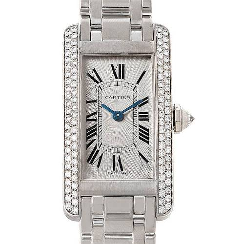 Photo of Cartier Tank Americaine 18K White Gold Diamond Watch WB7018L1