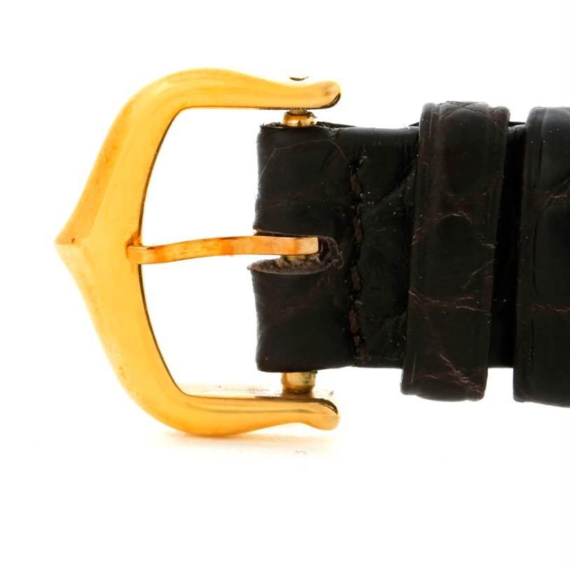 8030 Cartier Tank Americaine 18K Yellow Gold Ladies Watch W2601556 SwissWatchExpo