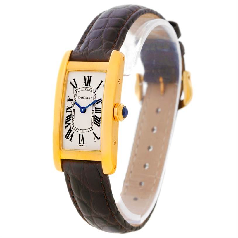 buy online 0e3dc 81fa4 Cartier Tank Americaine 18K Yellow Gold Ladies Watch W2601556