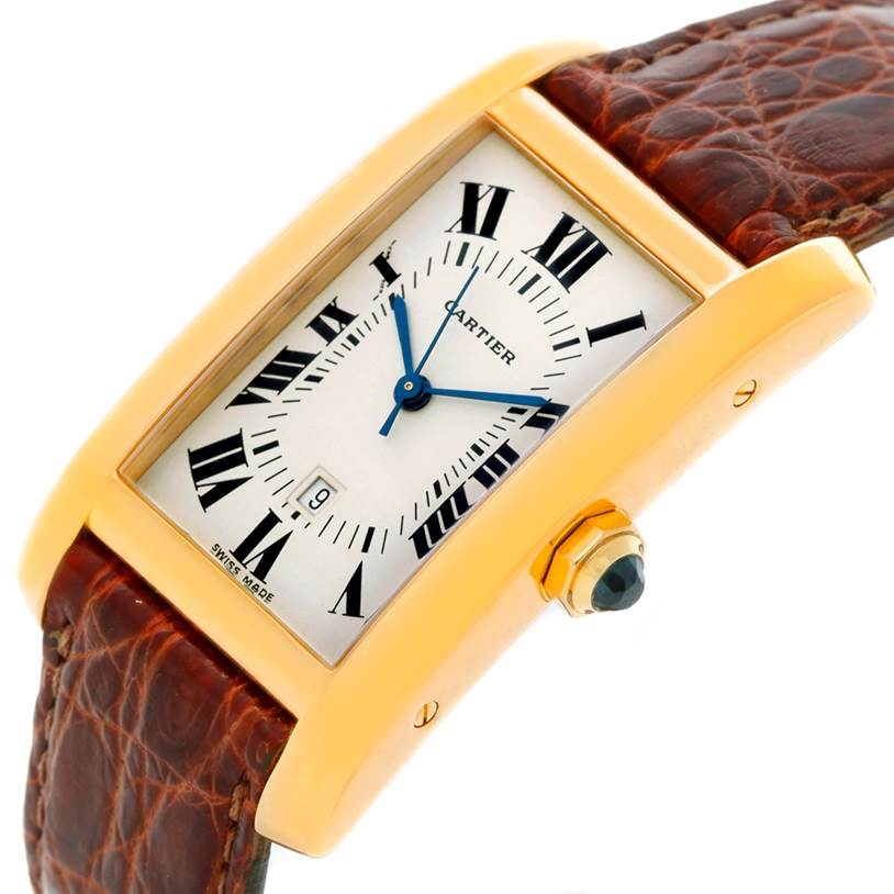 8131 Cartier Tank Americaine Midsize 18K Yellow Gold Watch SwissWatchExpo