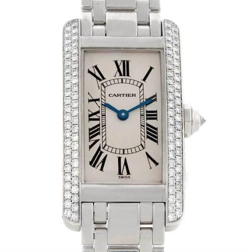 Photo of Cartier Tank Americaine 18K White Gold Diamond Watch W2601956