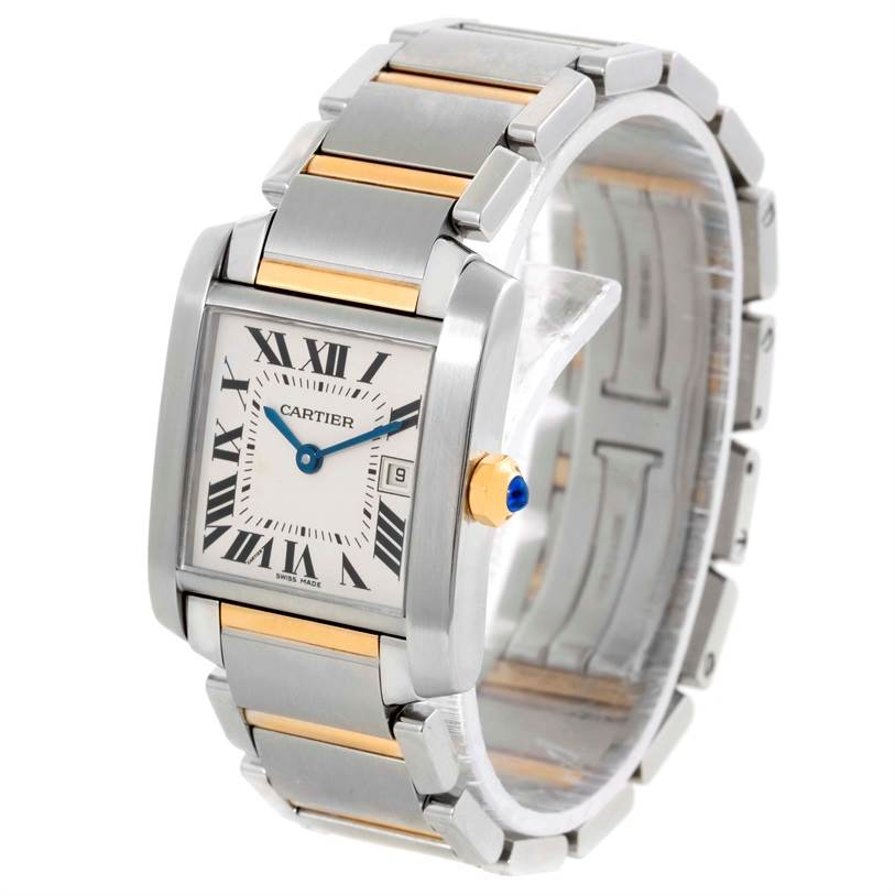 9842 Cartier Tank Francaise Midsize Steel 18k Gold Watch W51012Q4 SwissWatchExpo