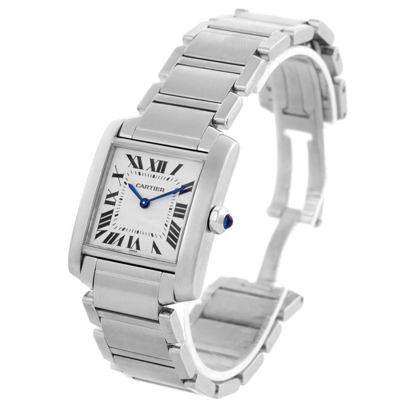 8010 Cartier Tank Francaise Midsize NonDate Stainless Steel Watch WSTA0005 SwissWatchExpo