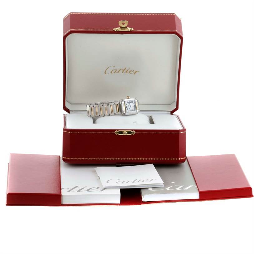 9286 Cartier Tank Francaise Ladies Steel 18k Yellow Gold Watch W51007Q4 SwissWatchExpo