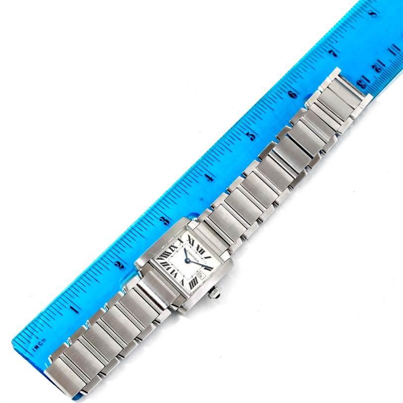8029 Cartier Tank Francaise Midsize Stainless Steel Quartz Watch W51011Q3 SwissWatchExpo