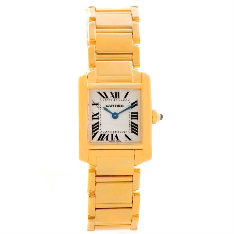 10284 Cartier Tank Francaise Small 18k Yellow Gold Ladies Watch W50002N2 SwissWatchExpo