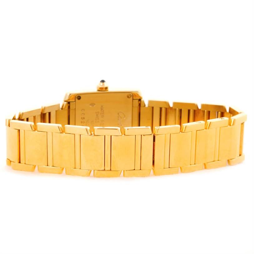 10436 Cartier Tank Francaise Small 18k Yellow Gold Ladies Watch W50002N2 SwissWatchExpo
