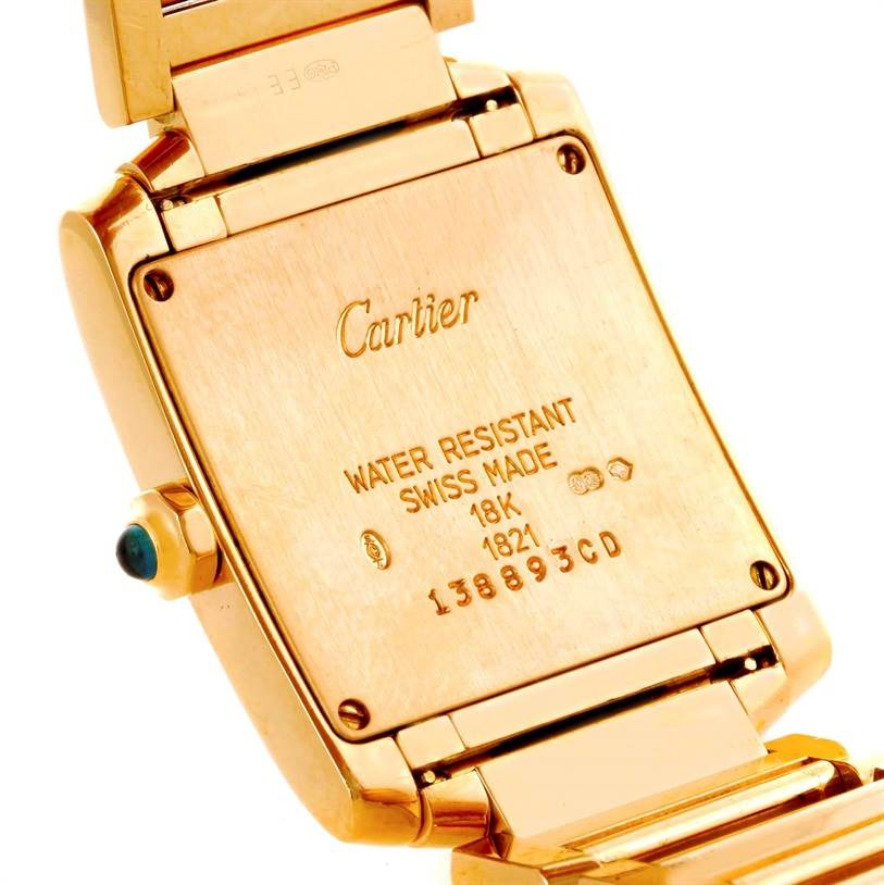 10432 Cartier Tank Francaise Midsize 18K Yellow Gold Watch W50003N2 SwissWatchExpo