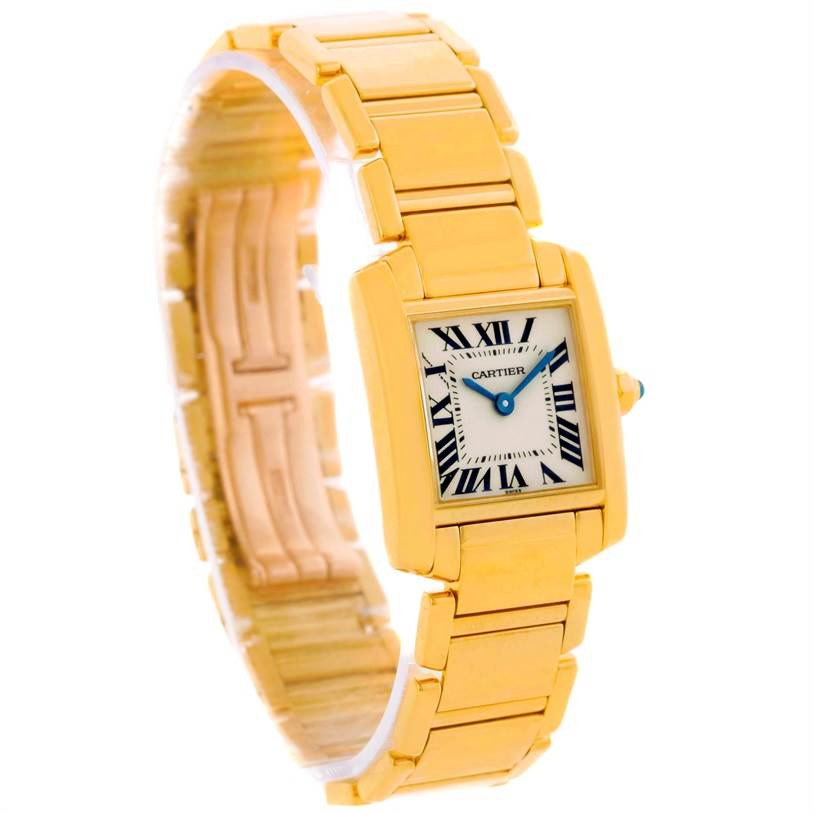 10449 Cartier Tank Francaise Small 18k Yellow Gold Ladies Watch W50002N2 SwissWatchExpo