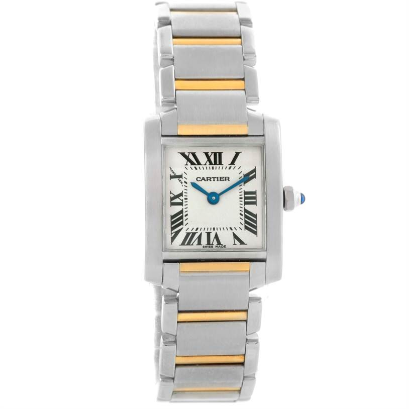 8348 Cartier Tank Francaise Ladies Steel Yellow Gold Quartz Watch W51007Q4 SwissWatchExpo