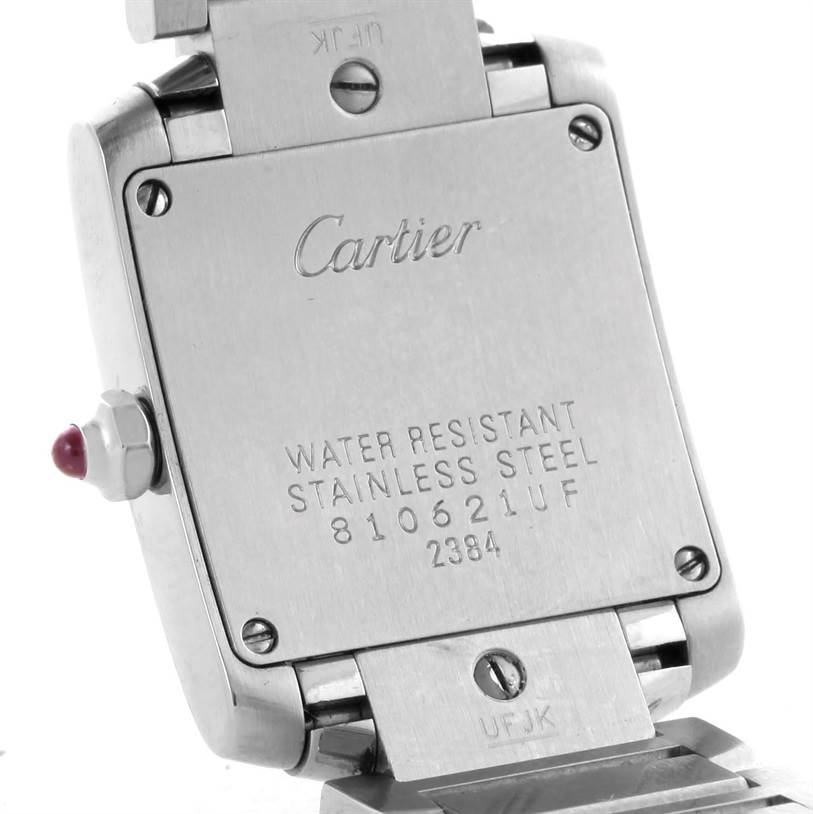 10267 Cartier Tank Francaise Pink Mother of Pearl Dial Watch W51028Q3 SwissWatchExpo