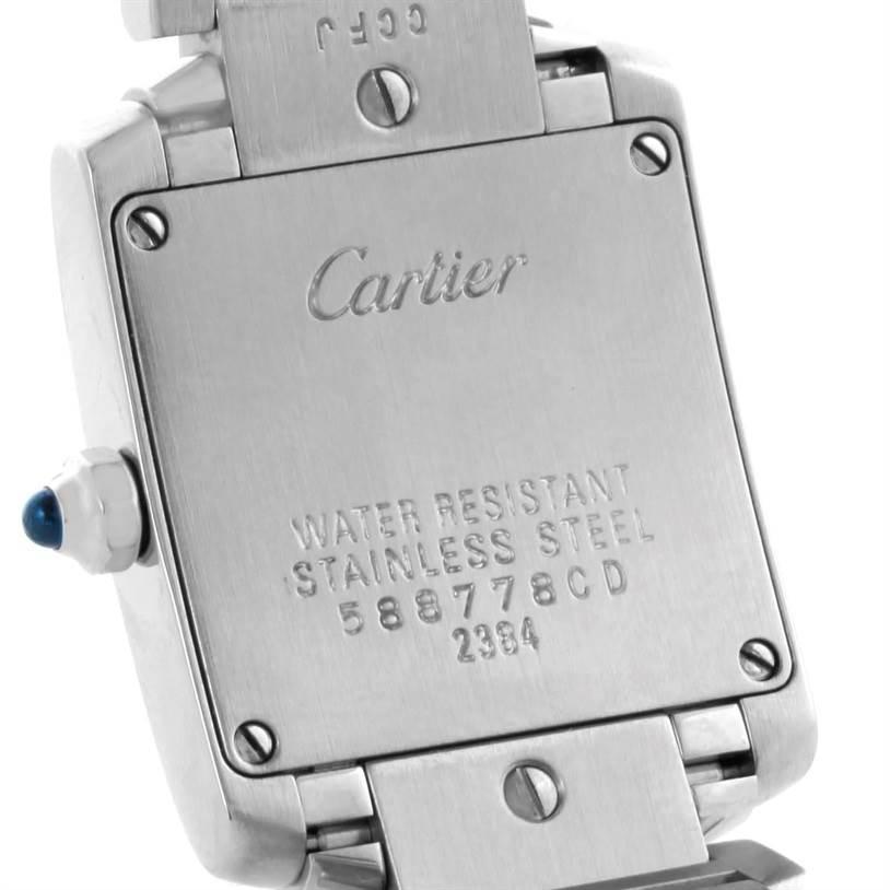 9991 Cartier Tank Francaise Ladies Silver Dial Quartz Watch W51008Q3 SwissWatchExpo
