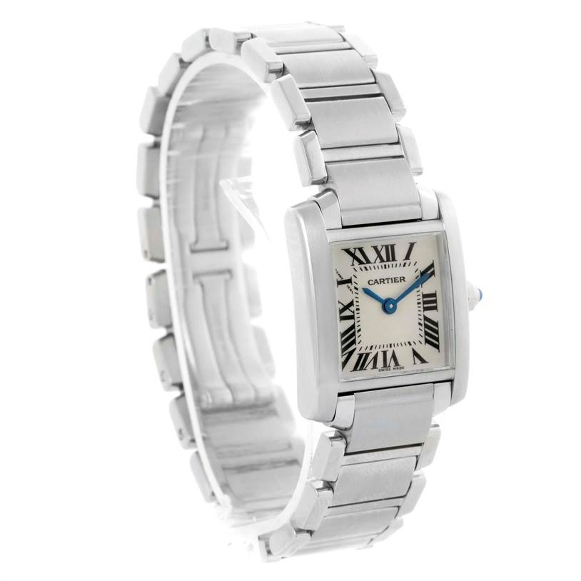 10508 Cartier Tank Francaise Womens Silver Dial Watch W51008Q3 SwissWatchExpo