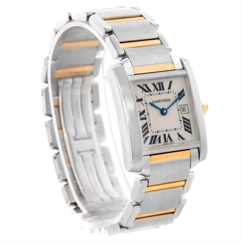 10504 Cartier Tank Francaise Midsize Steel 18k Gold Ladies Watch W51012Q4 SwissWatchExpo