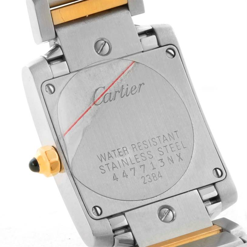 10008 Cartier Tank Francaise Womens Steel Yellow Gold Quartz Watch W51007Q4 SwissWatchExpo