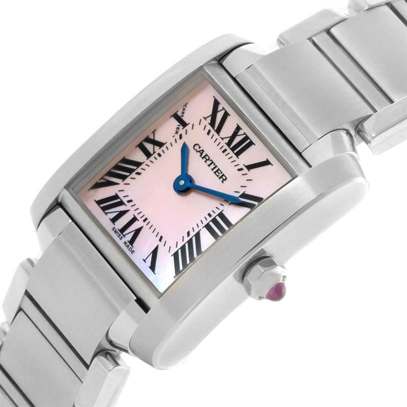 11117 Cartier Tank Francaise Mother of Pearl Dial Ladies Watch W51028Q3 SwissWatchExpo
