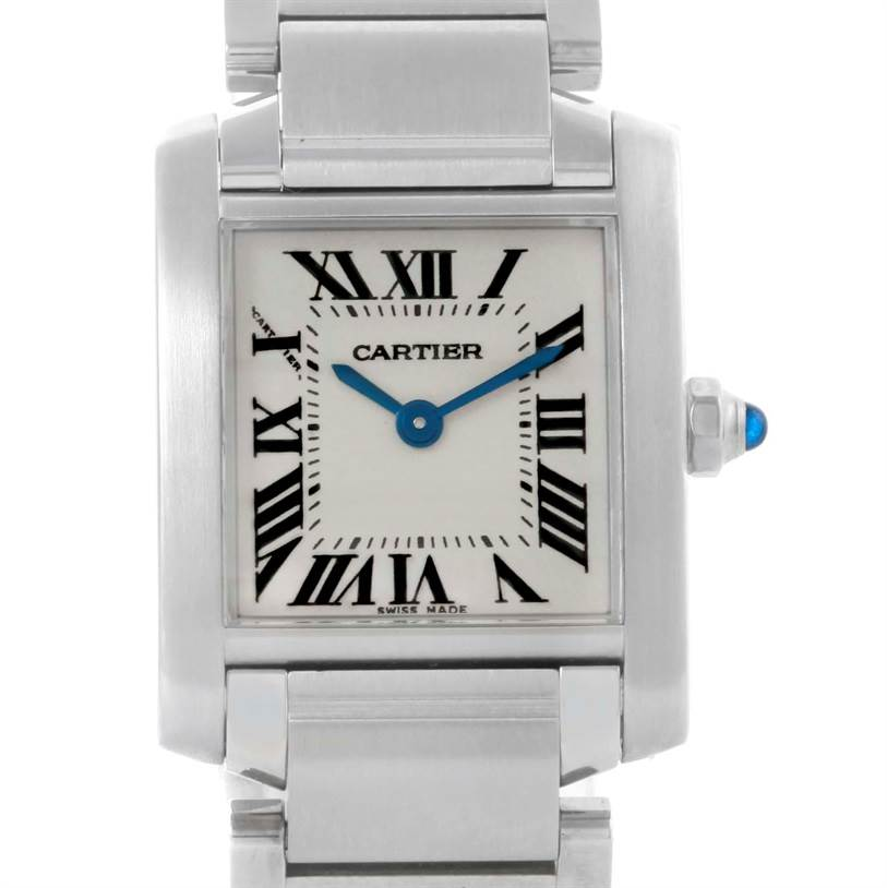 10759 Cartier Tank Francaise Small Ladies Stainless Steel Watch W51008Q3 SwissWatchExpo