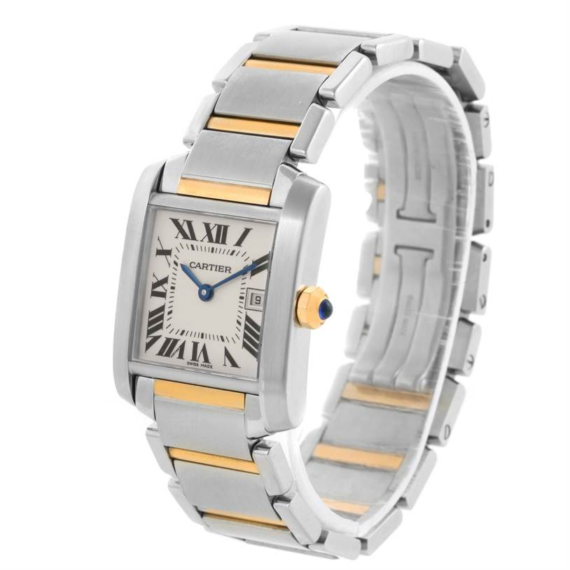 11596 Cartier Tank Francaise Midsize Steel 18k Gold Ladies Watch W51012Q4 SwissWatchExpo
