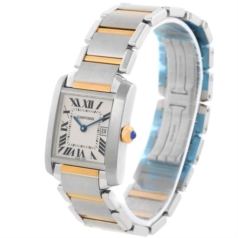 11603 Cartier Tank Francaise Midsize Steel 18k Gold Watch W51012Q4 Unworn SwissWatchExpo