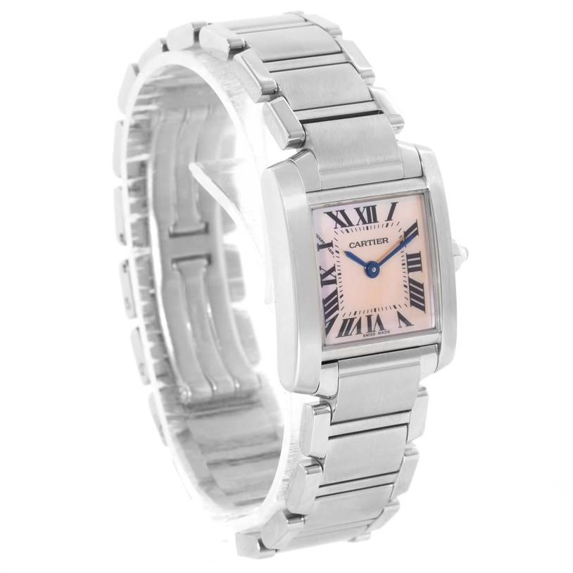 10624 Cartier Tank Francaise Mother of Pearl Dial Ladies Watch W51028Q3 SwissWatchExpo