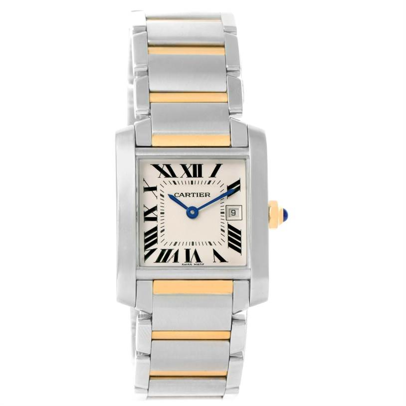 12026 Cartier Tank Francaise Midsize Steel 18k Gold Ladies Watch W51012Q4 SwissWatchExpo