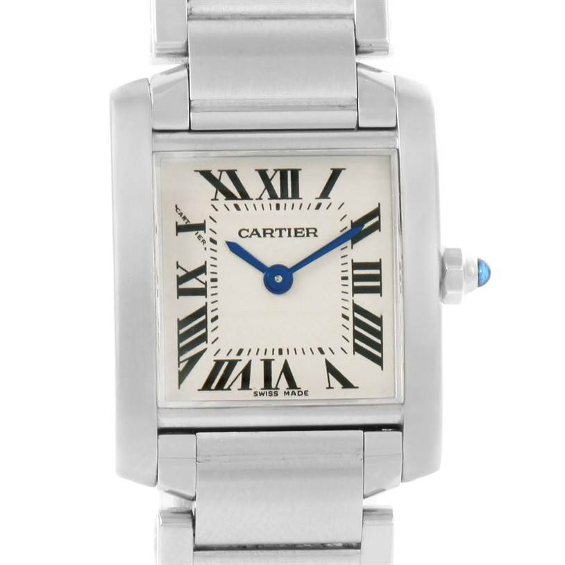 841a6e9c212 ... 12192 Cartier Tank Francaise Small Ladies Stainless Steel Watch  W51008Q3 SwissWatchExpo ...