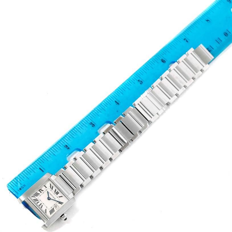 12564S Cartier Tank Francaise Midsize Silver Roman Dial Ladies Watch W51011Q3 SwissWatchExpo