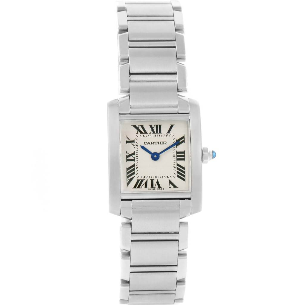 ... 12188 Cartier Tank Francaise Small Ladies Silver Dial Watch W51008Q3  SwissWatchExpo ...