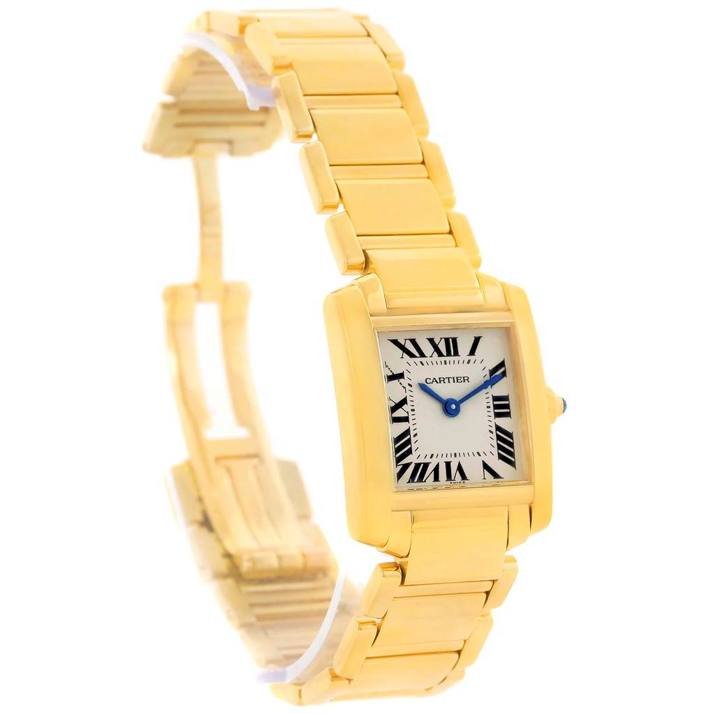 12182d017e7d6 ... 12985S Cartier Tank Francaise Small 18k Yellow Gold Ladies Watch  W50002N2 SwissWatchExpo ...