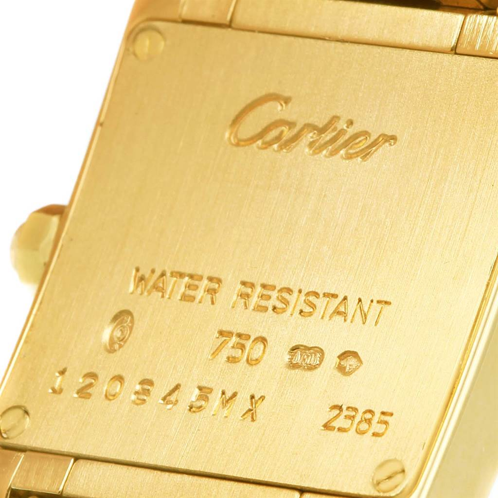 14445 Cartier Tank Francaise Small 18K Yellow Gold Diamond Watch WE1001R8 SwissWatchExpo