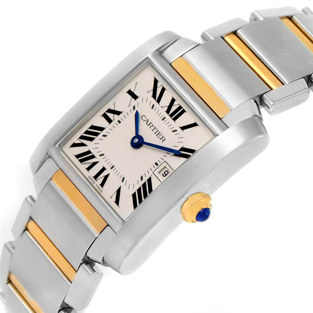 14591 Cartier Tank Francaise Midsize Steel 18k Gold Ladies Watch W51012Q4 SwissWatchExpo