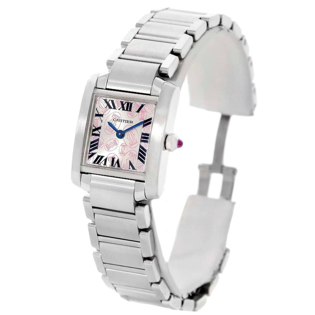 14628 Cartier Tank Francaise Ladies Steel Limited Edition Watch W51031Q3 SwissWatchExpo