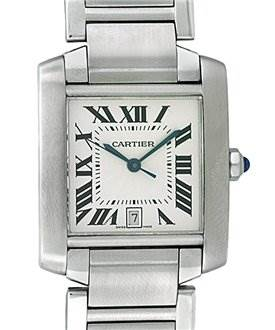 823WC Cartier Mens Large Ss Tank Francaise W51002q3 SwissWatchExpo
