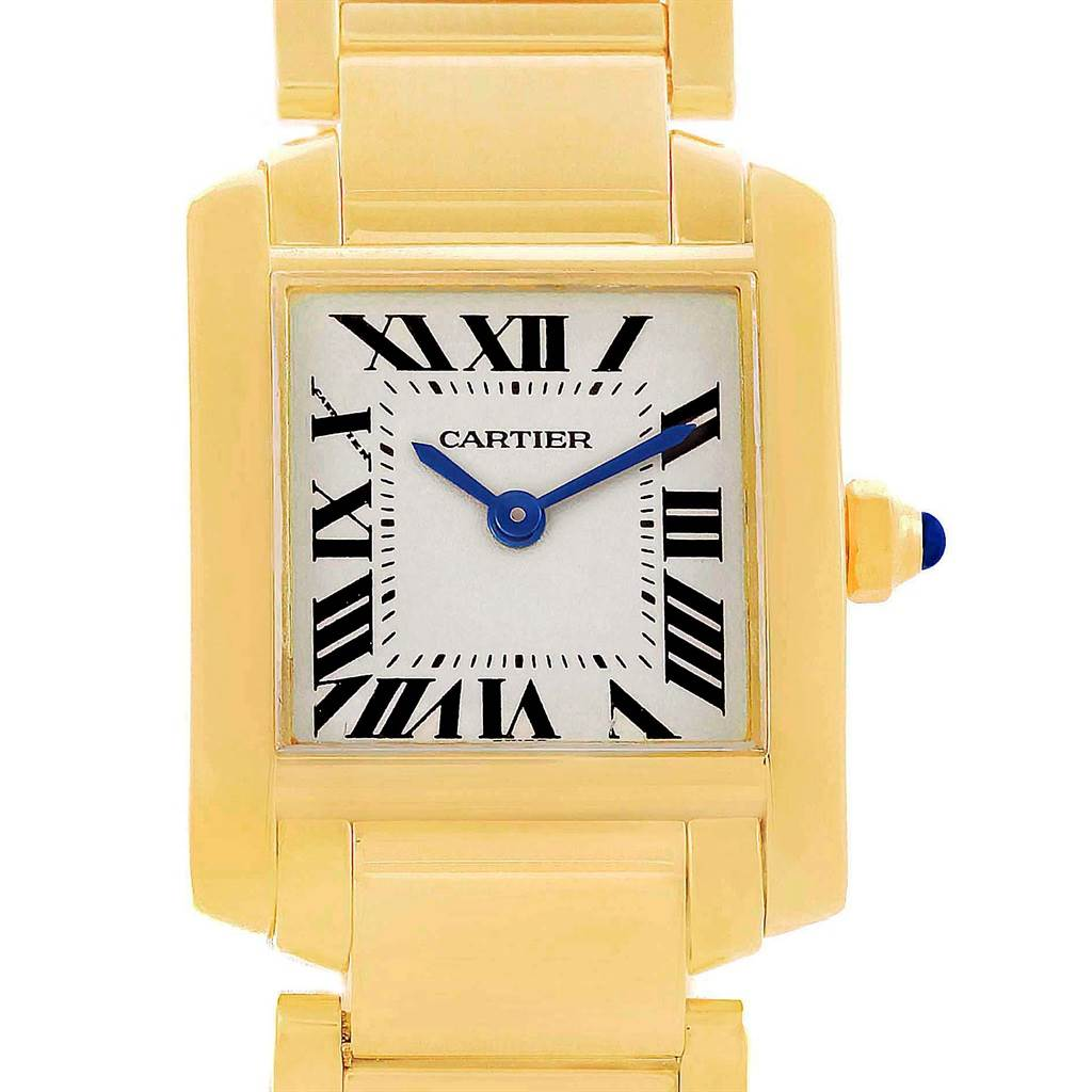 3ff649f4a4835 ... 16904A Cartier Tank Francaise Yellow Gold Small Ladies Watch W50002N2  SwissWatchExpo ...