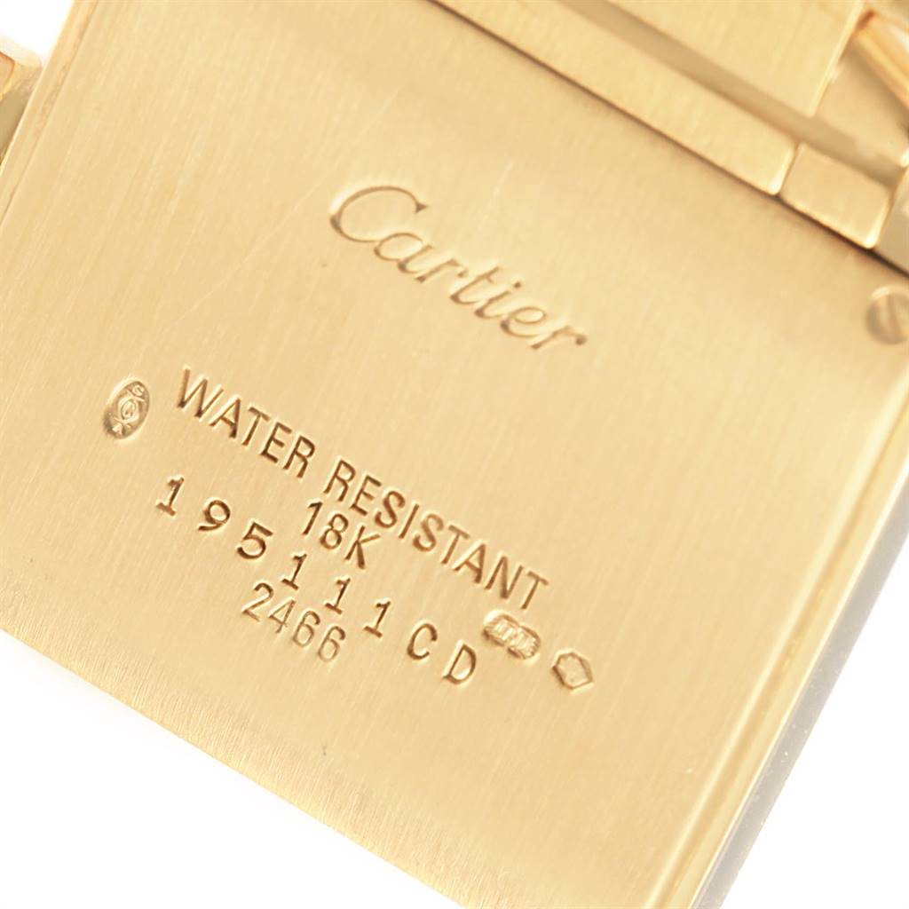 Cartier Tank Francaise Midsize Date Yellow Gold Ladies Watch W50014N2 SwissWatchExpo