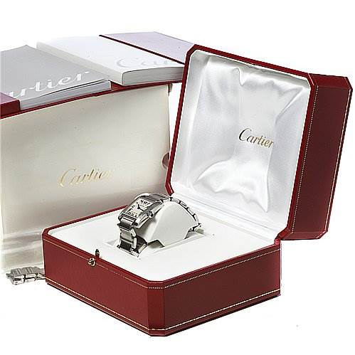 2029 Cartier Tank Francaise Midsize Ladies Stainless Steel Watch W51011q3 SwissWatchExpo