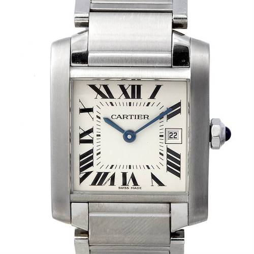 Photo of Cartier Tank Francaise Midsize Ladies Stainless Steel Watch W51011q3