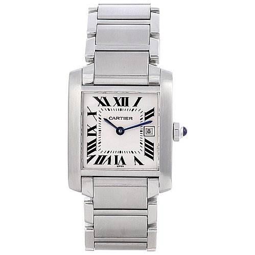 2061 Cartier Tank Francaise Midsize Ladies Steel Watch W51011q3 SwissWatchExpo