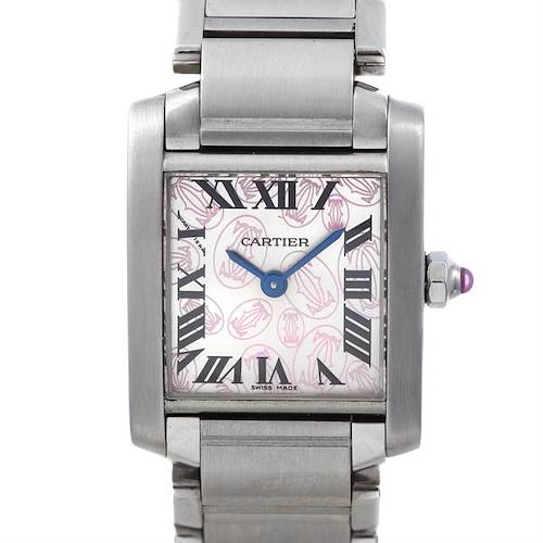 Photo of Cartier Tank Francaise Ladies Double C Decor W51031q3 Watch