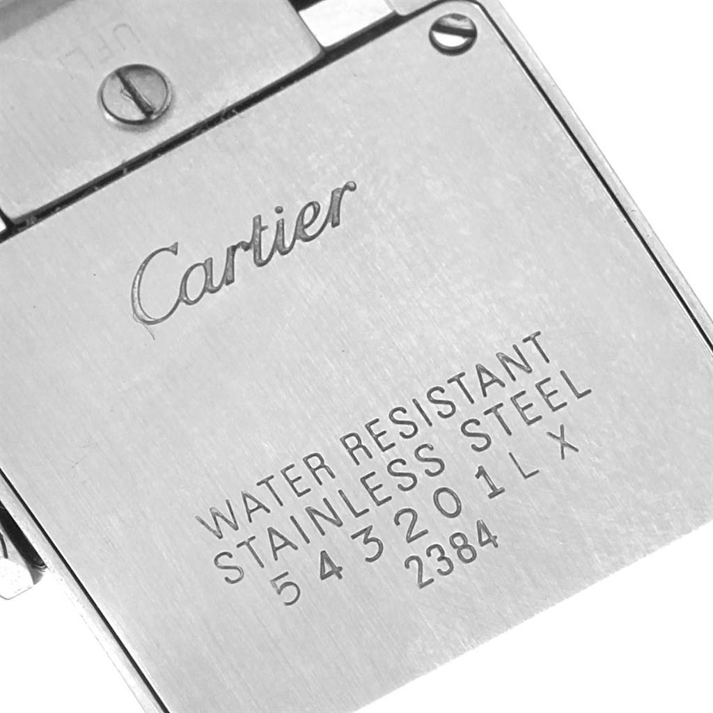 18266 Cartier Tank Francaise Silver Pink Dial Limited Edition Watch W51031Q3 SwissWatchExpo