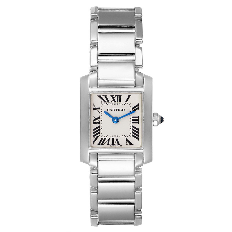 Cartier Tank Francaise 18K White Gold Quartz Ladies Watch W50012S3 SwissWatchExpo