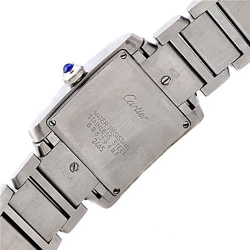 2243 Cartier Tank Francaise Ladies Steel Midsize W51011q3 SwissWatchExpo