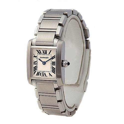 2263 Cartier Tank Francaise Ladies Small Ss Watch W51008q3 SwissWatchExpo